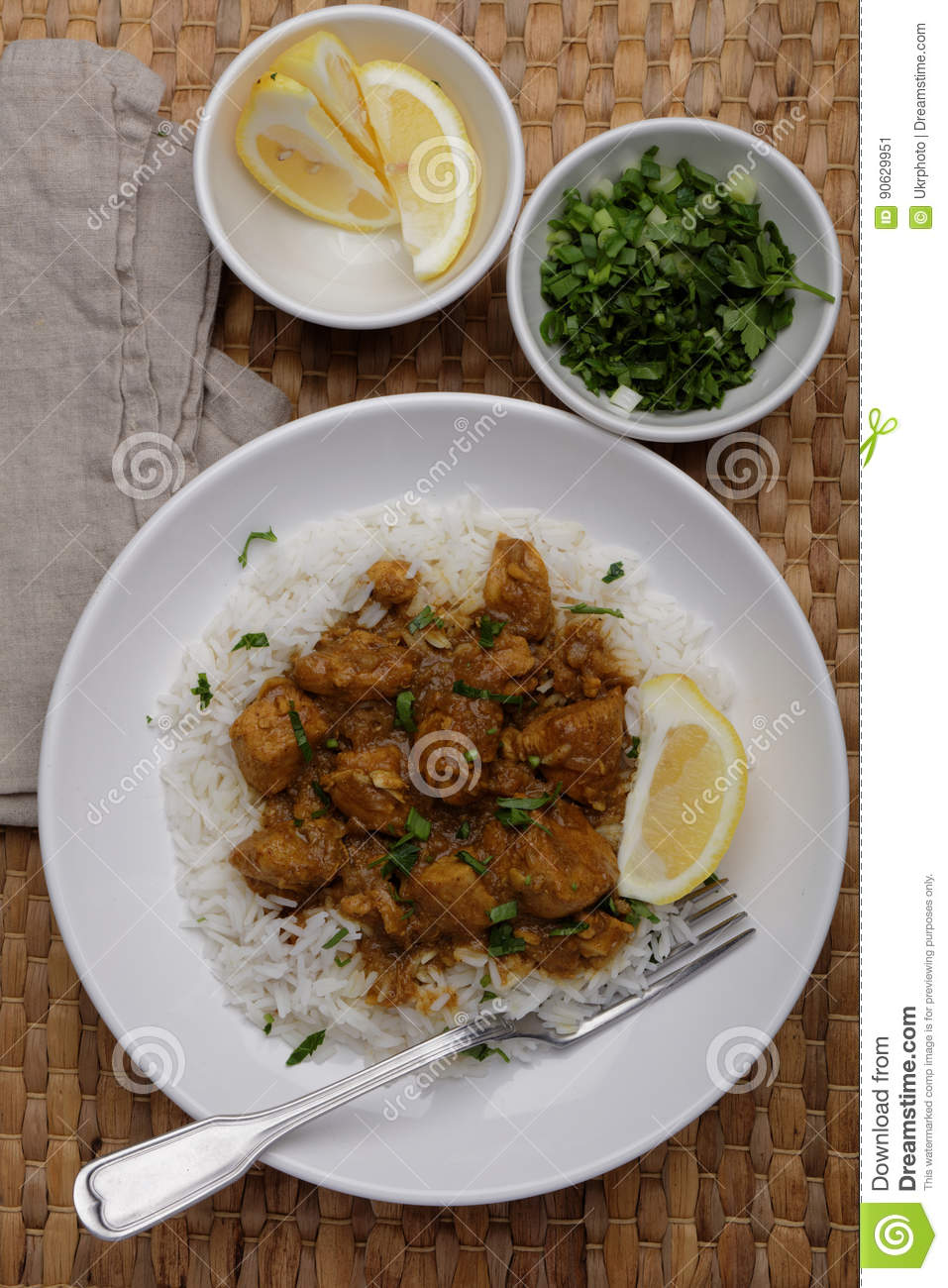 Curry del pollo