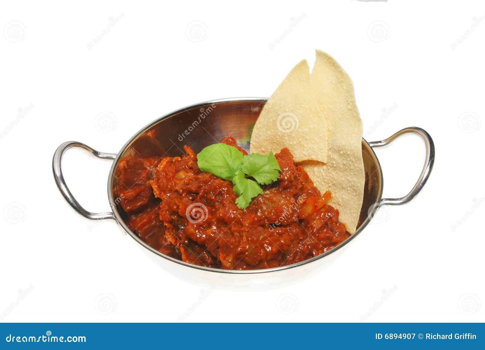 Curry e pappadum