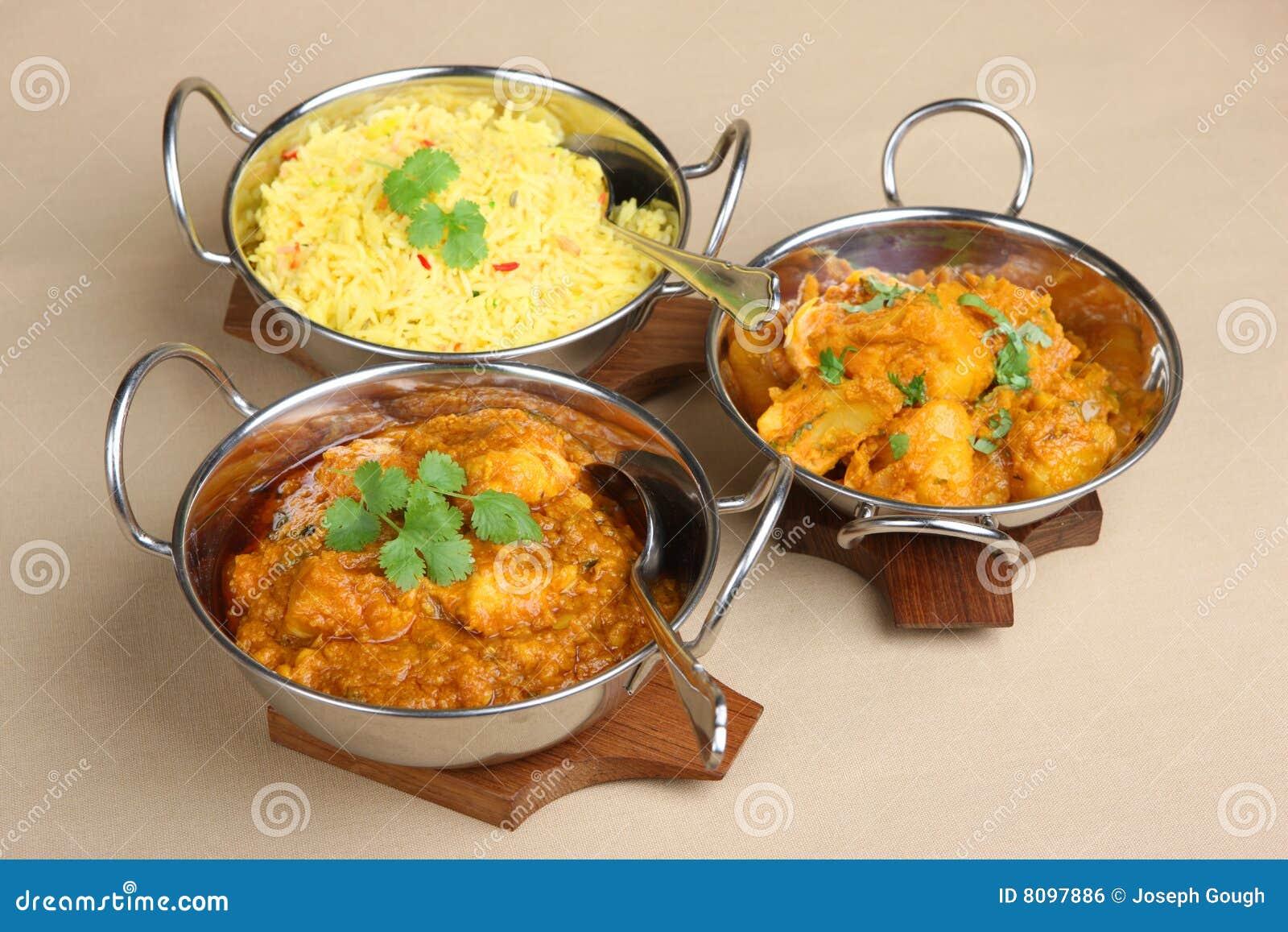 Curry ego indiański Posiłek