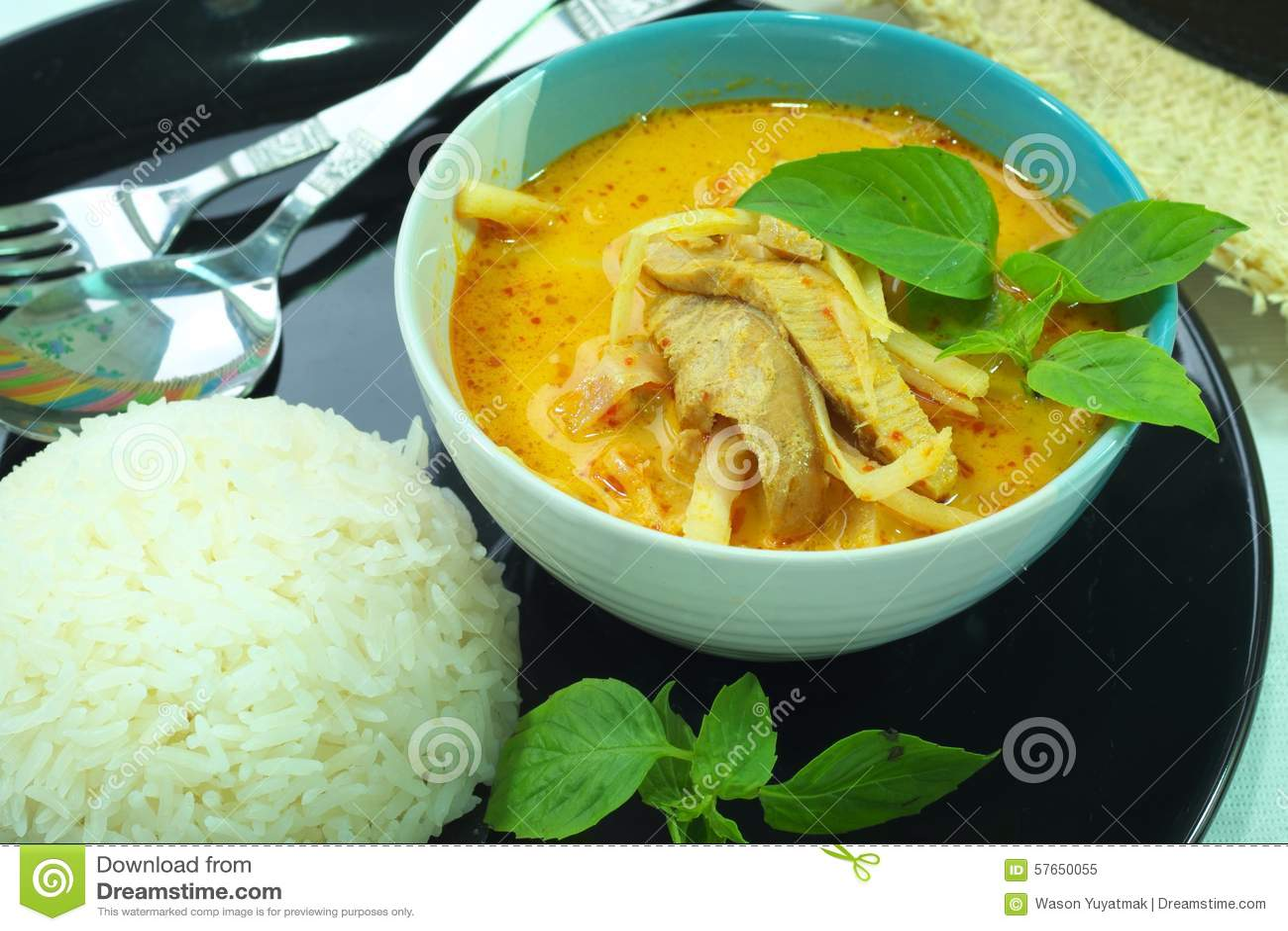 Curry ego wieprzowina piec asparagus