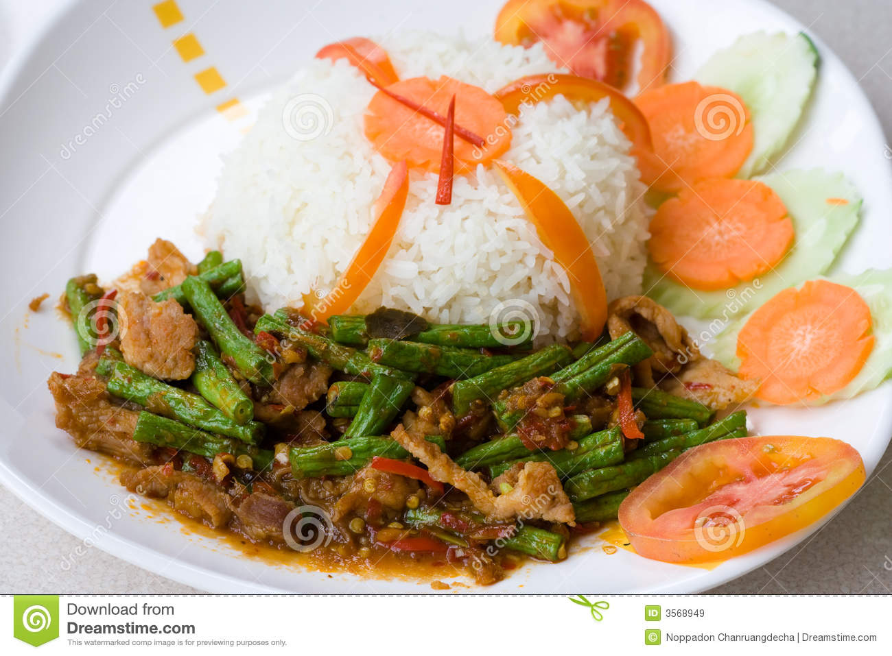 Curry piccante tailandese