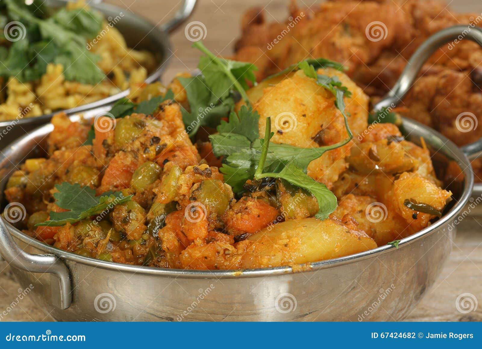 Curry vegetal mezclado