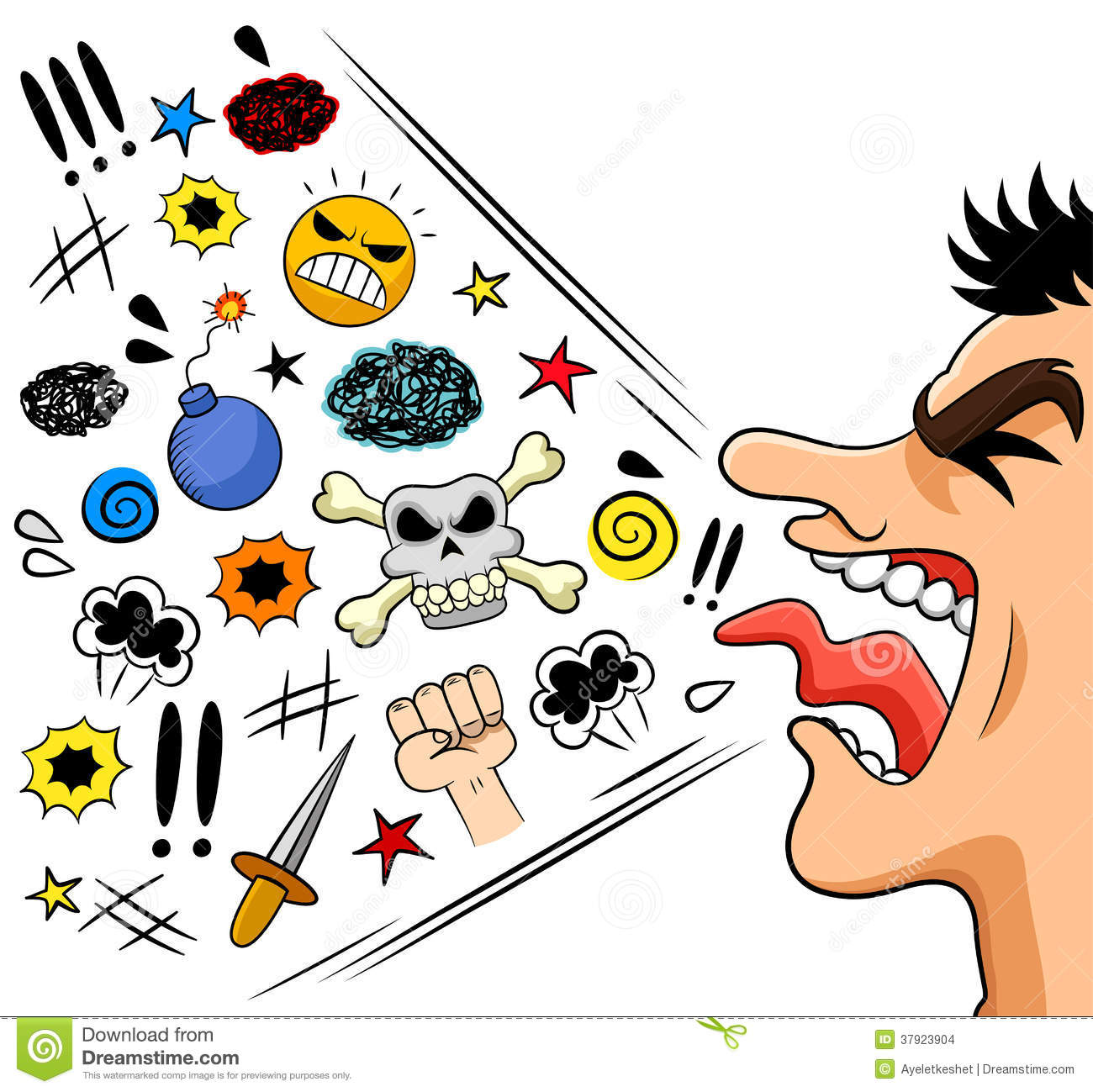 Cursing Man Stock Vector Illustration Of Communication 37923904