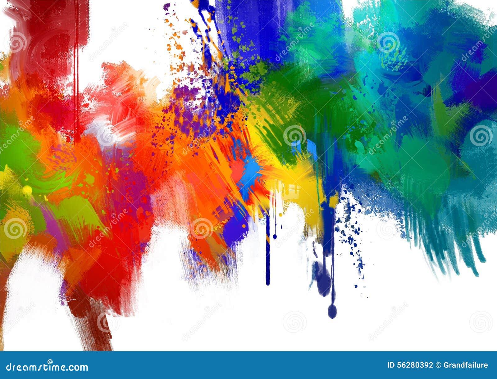 Curso colorido abstrato da pintura