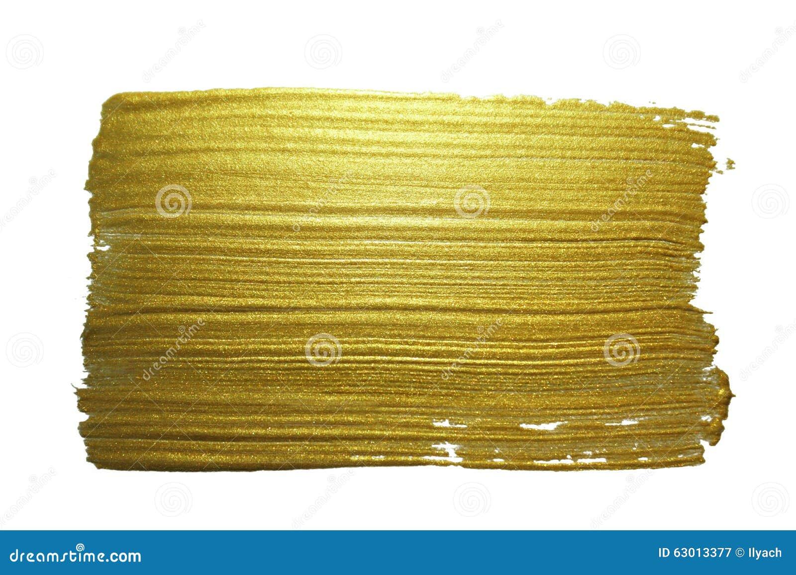 Curso da escova de pintura do ouro