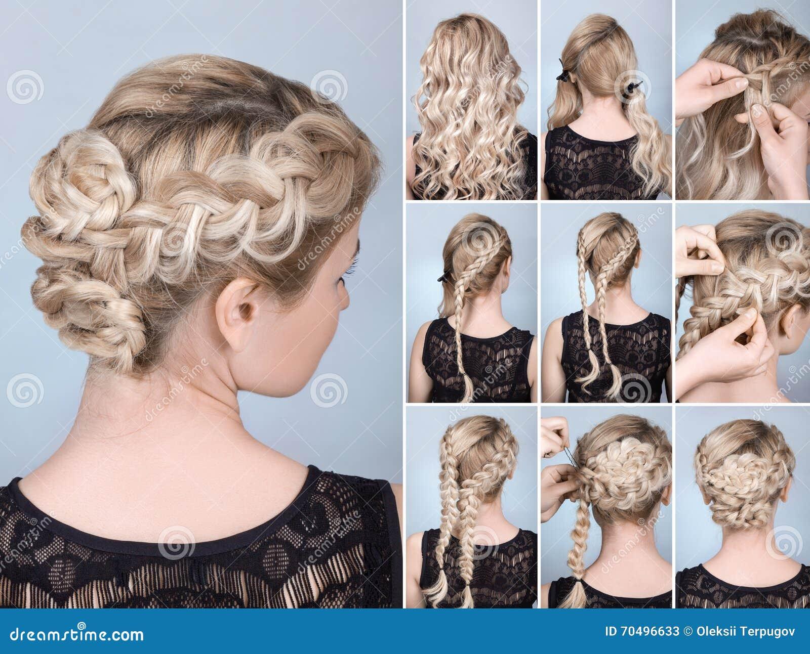 Curso da trança do penteado