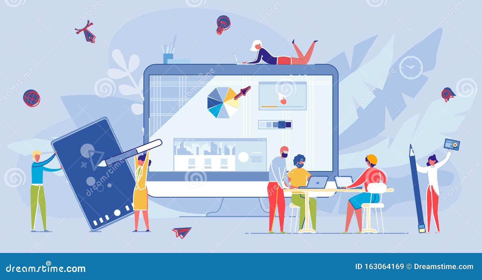 Curso De Internet A Distancia En Línea Y Educación Stock De Ilustración Ilustración De Social Internet 163064169
