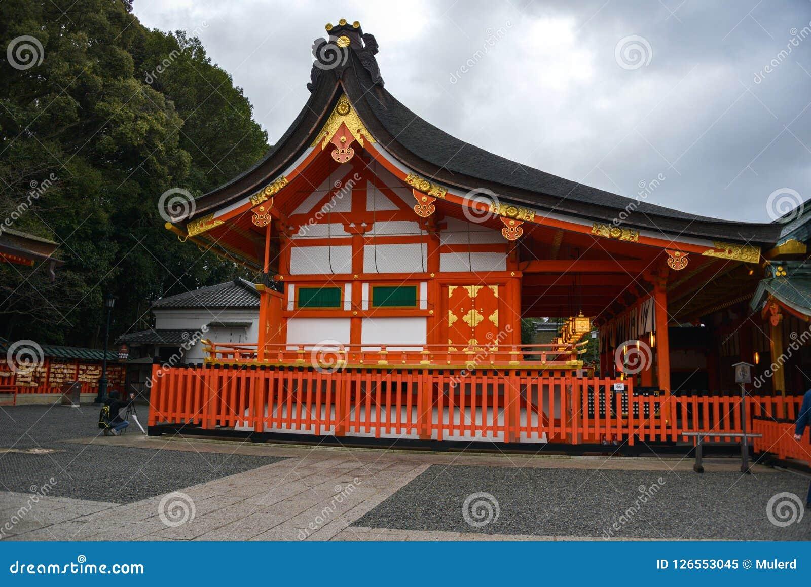 Curso de Japão, santuário de Fushimi Inari, em abril de 2018