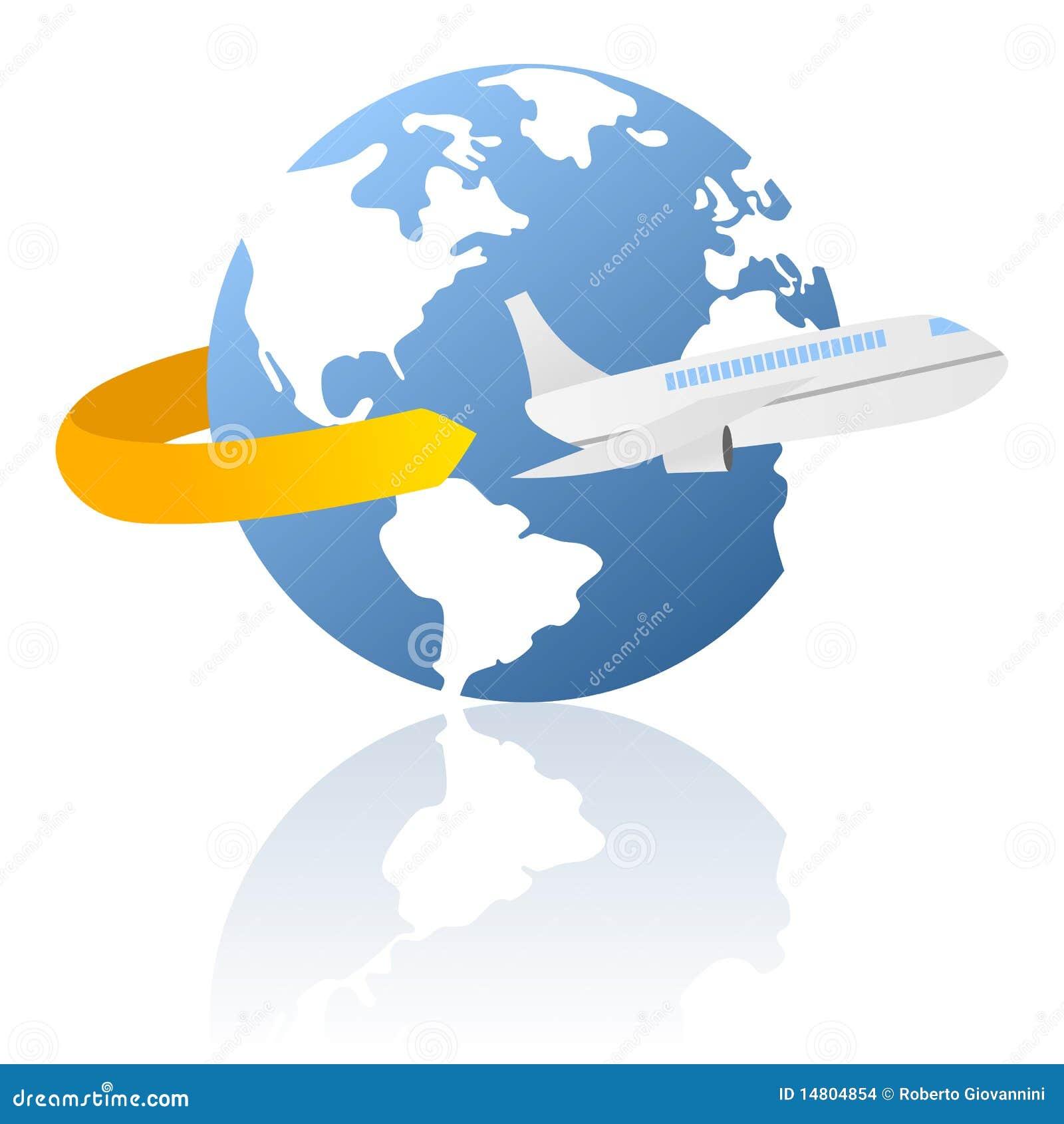 curso do mundo e logotipo da entrega ilustra231227o do vetor