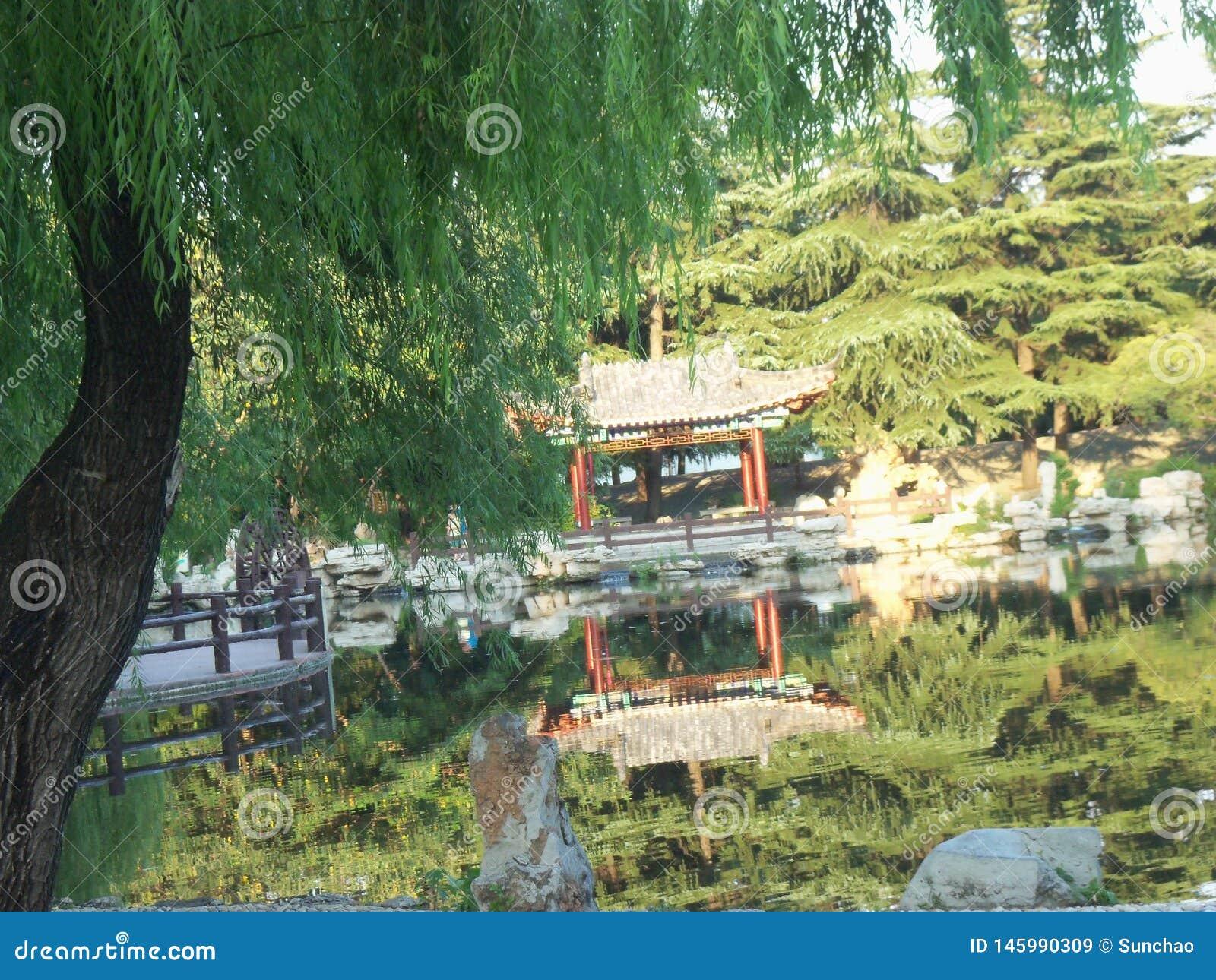 Curso em China, jardim do templo