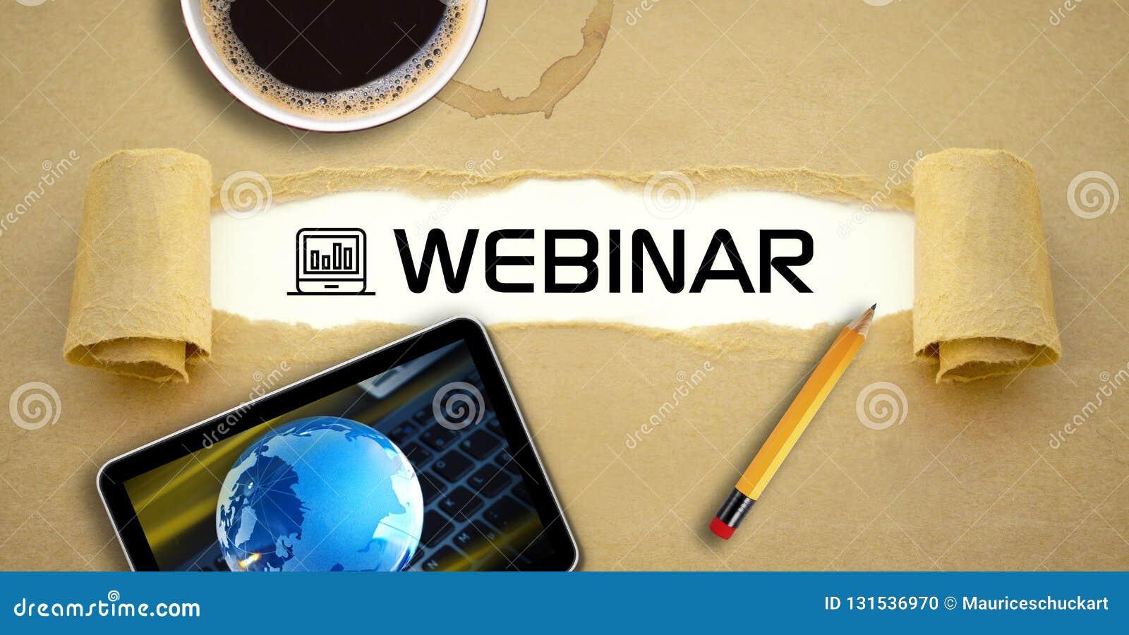 Curso em linha de aprendizagem em linha webinar do ensino eletrónico