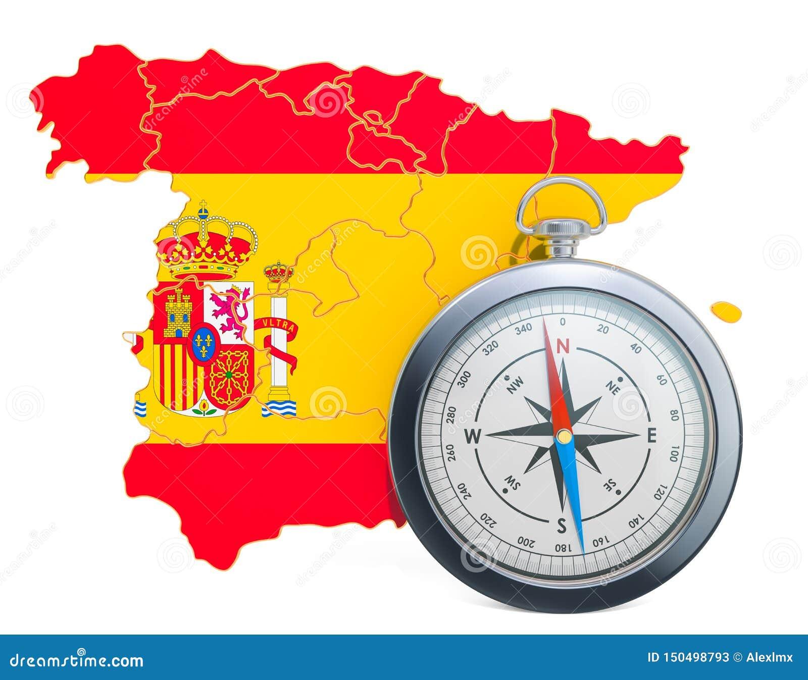 Curso ou turismo no conceito da Espanha rendi??o 3d