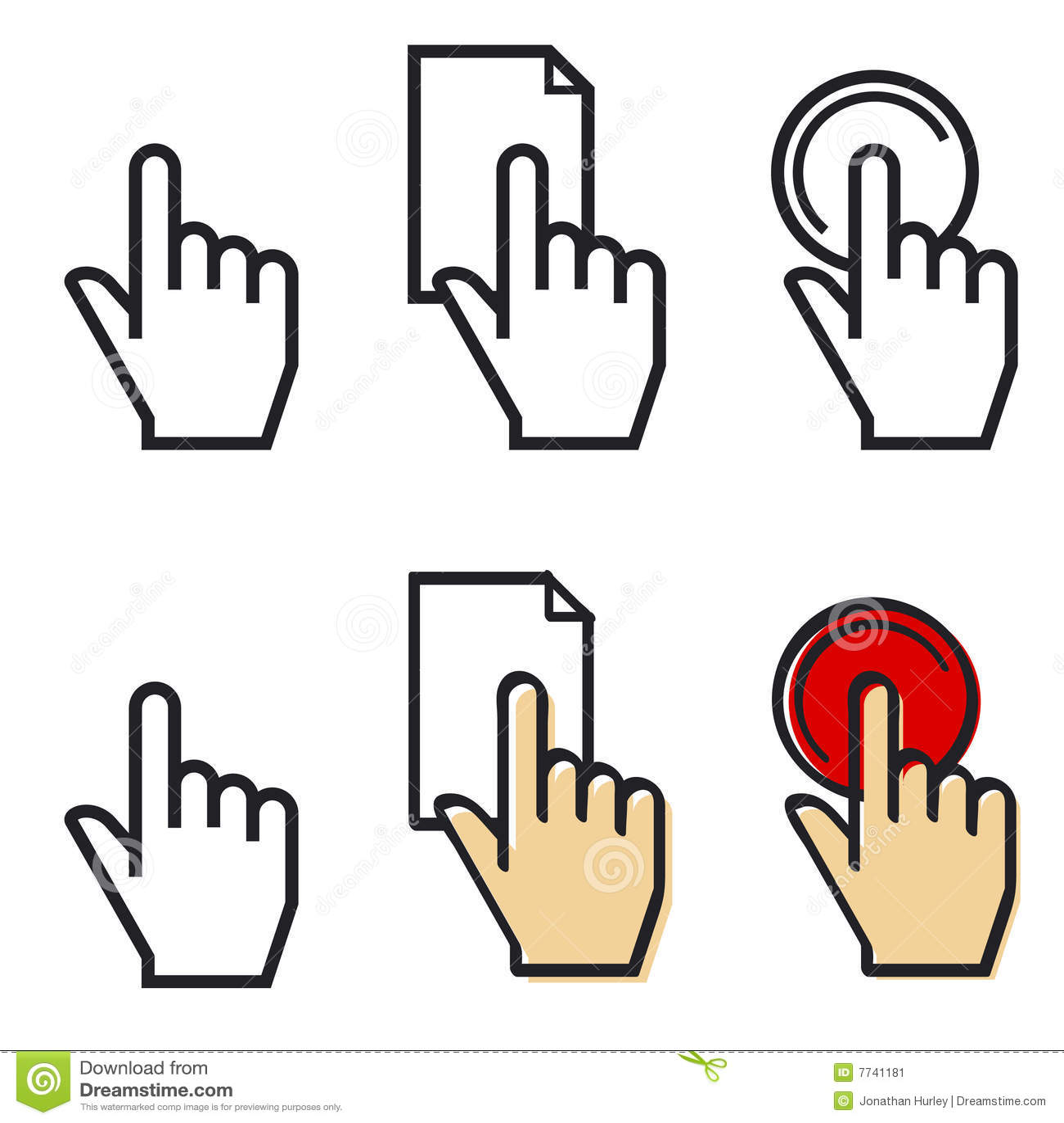 Cursor Hand Finger Stock Image - Image: 7741181