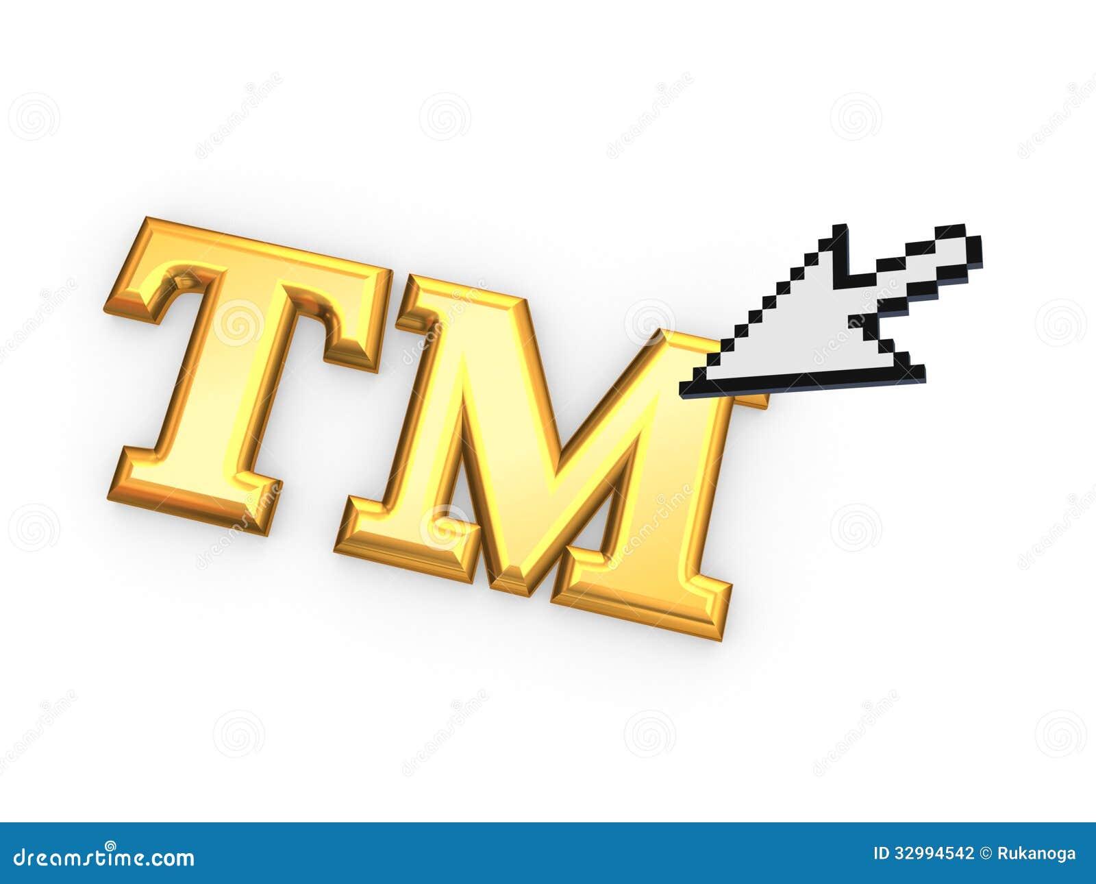 Cursor And Tm Symbol Stock Illustration Illustration Of Click