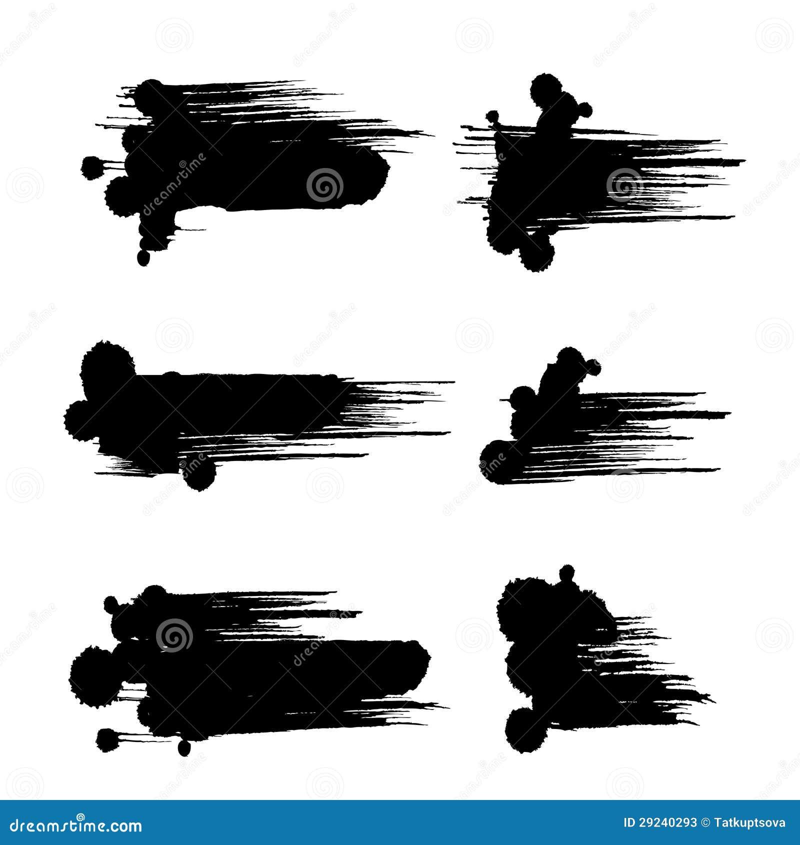 Download Cursos pretos da escova ilustração do vetor. Ilustração de círculo - 29240293
