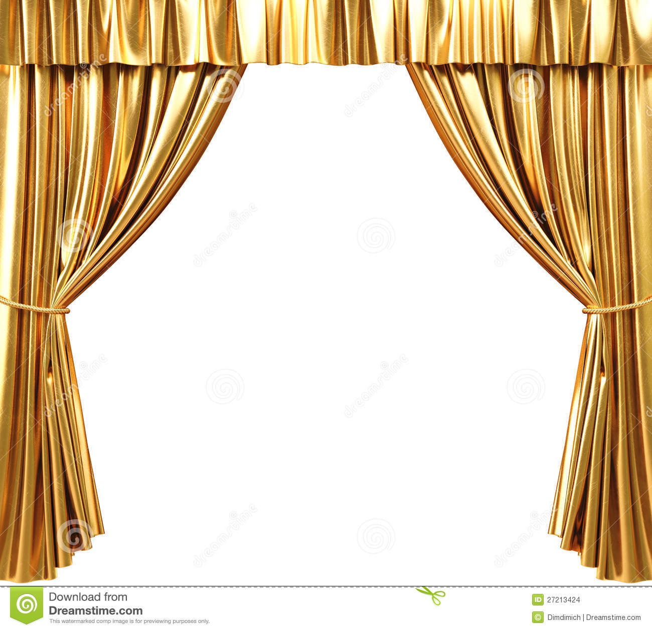 Curtain stock illustration illustration of golden image 27213424 - Pictures of curtains ...