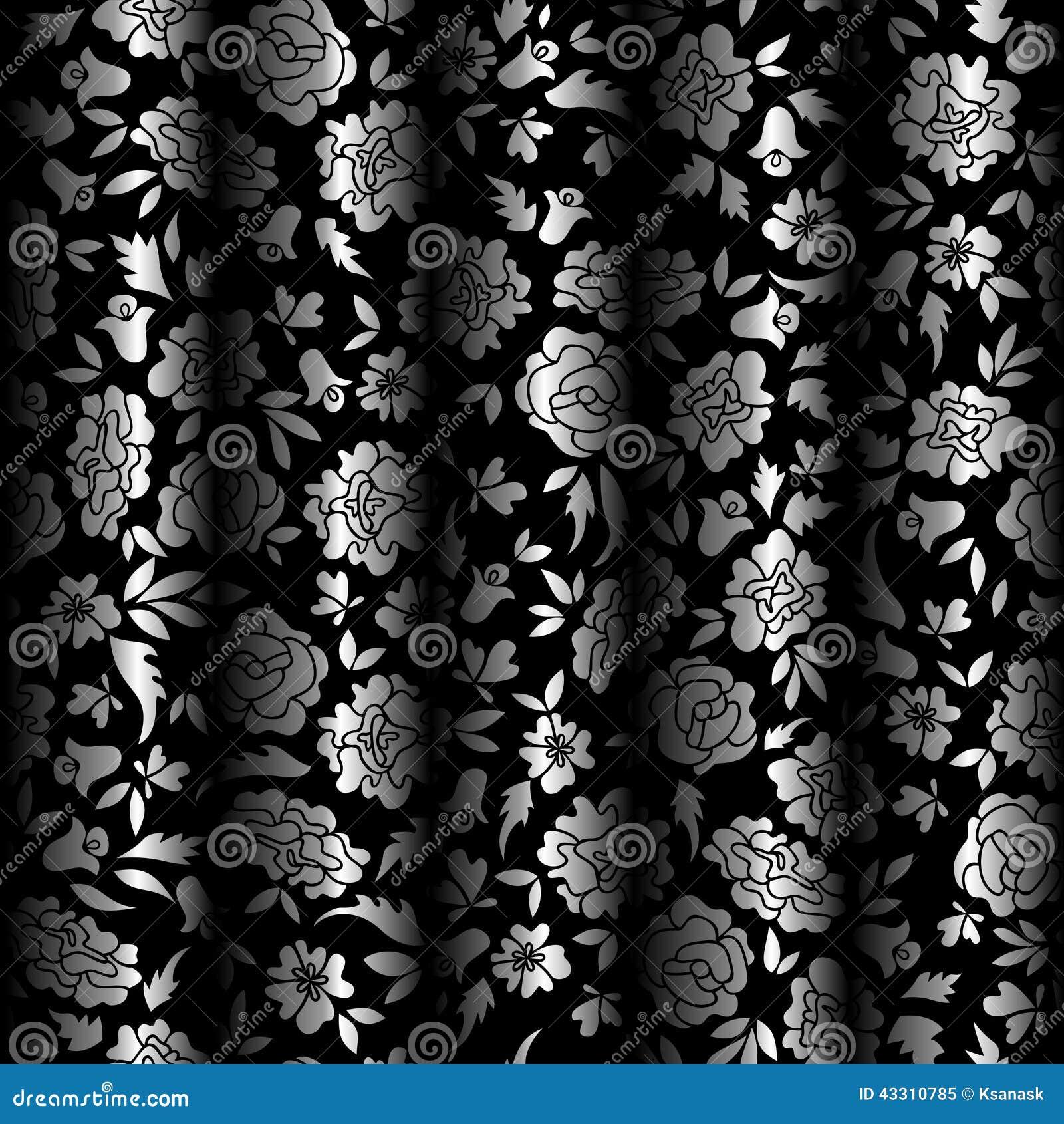 silver leaf pattern wallpaper