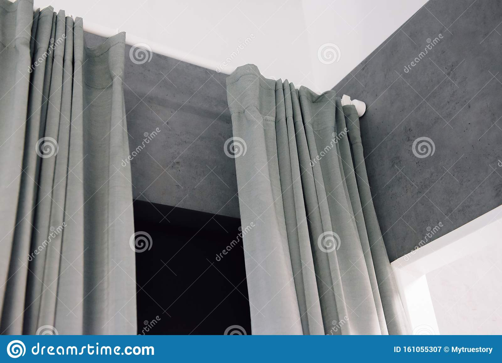 Curtain Interior Decoration In Living Room Stock Image Image Of Home House 161055307