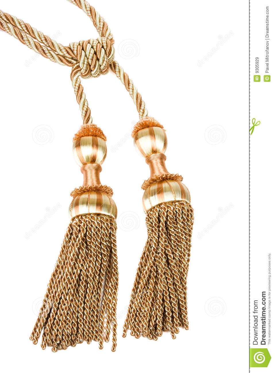 Curtain Tassel Stock Image Image Of Material Classical