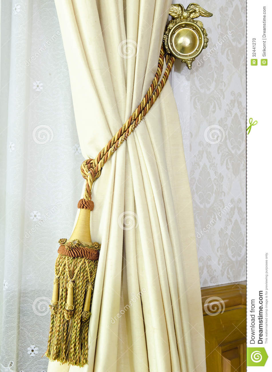 Download Curtain Tassel For Interior Decoration Stock Photo