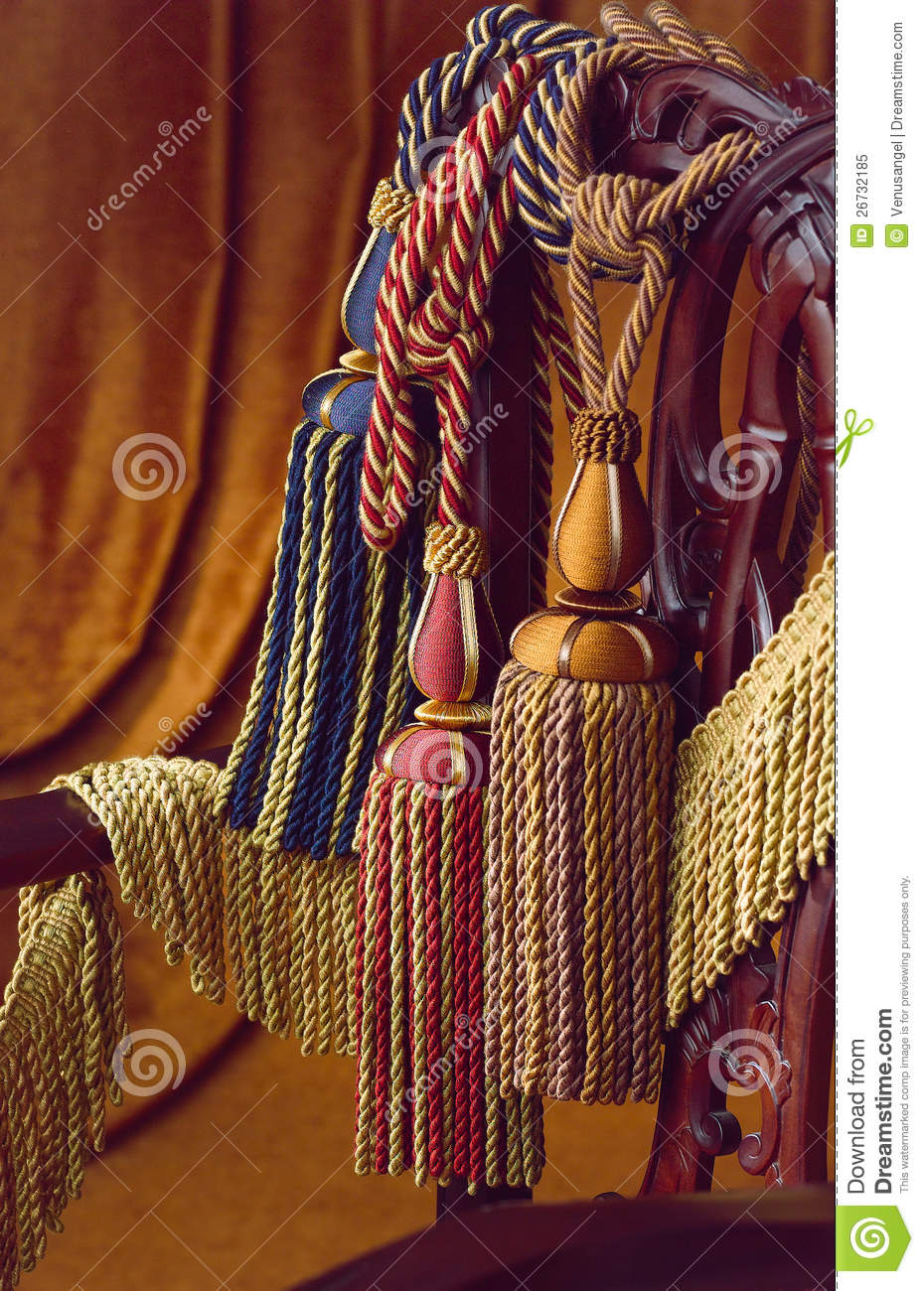 Curtain Tassels Stock Image Image Of Curtain Colorful