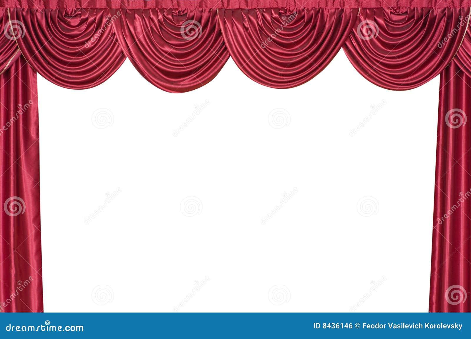 Curtain on a theatre scene.