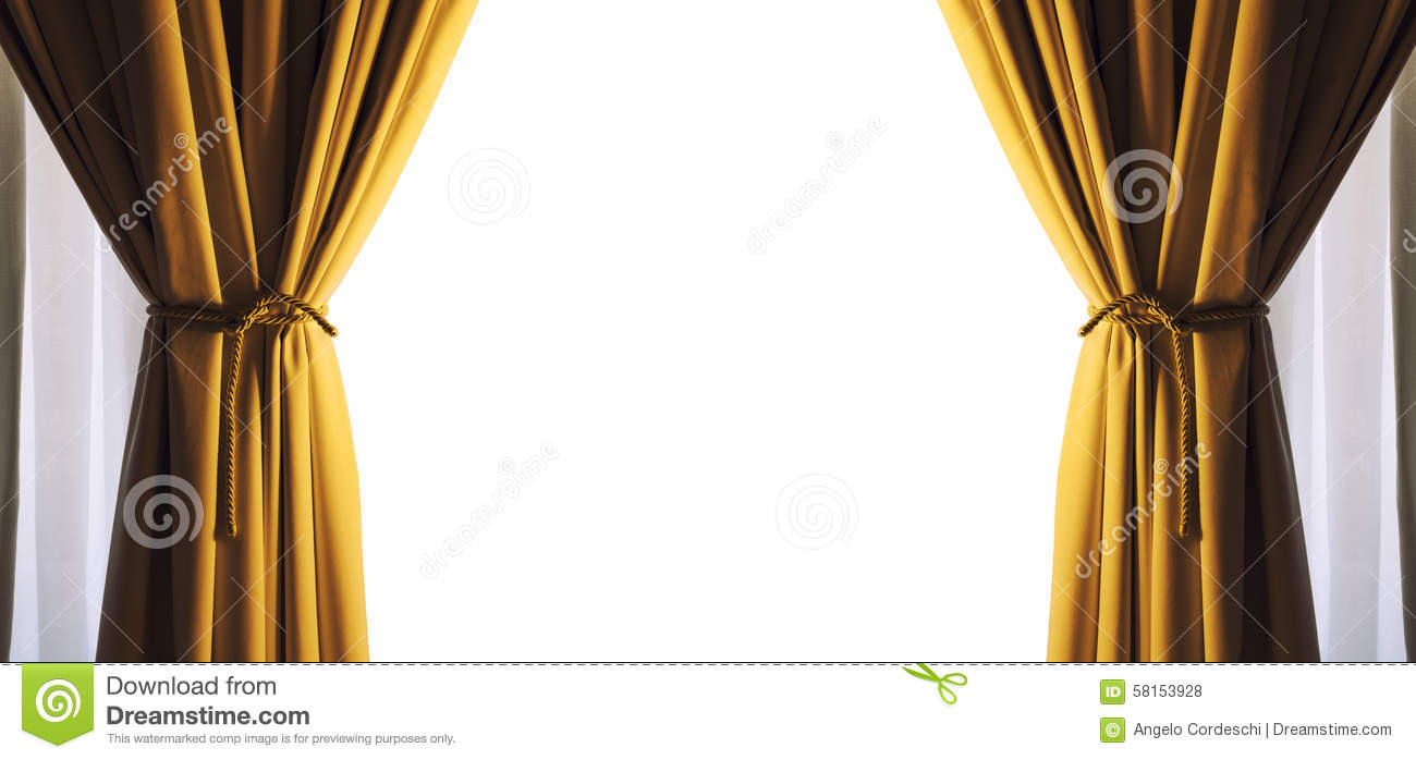 Curtains Empty Free White Space Frame. Gold Color. PNG Available ... for Yellow Curtains Png  588gtk
