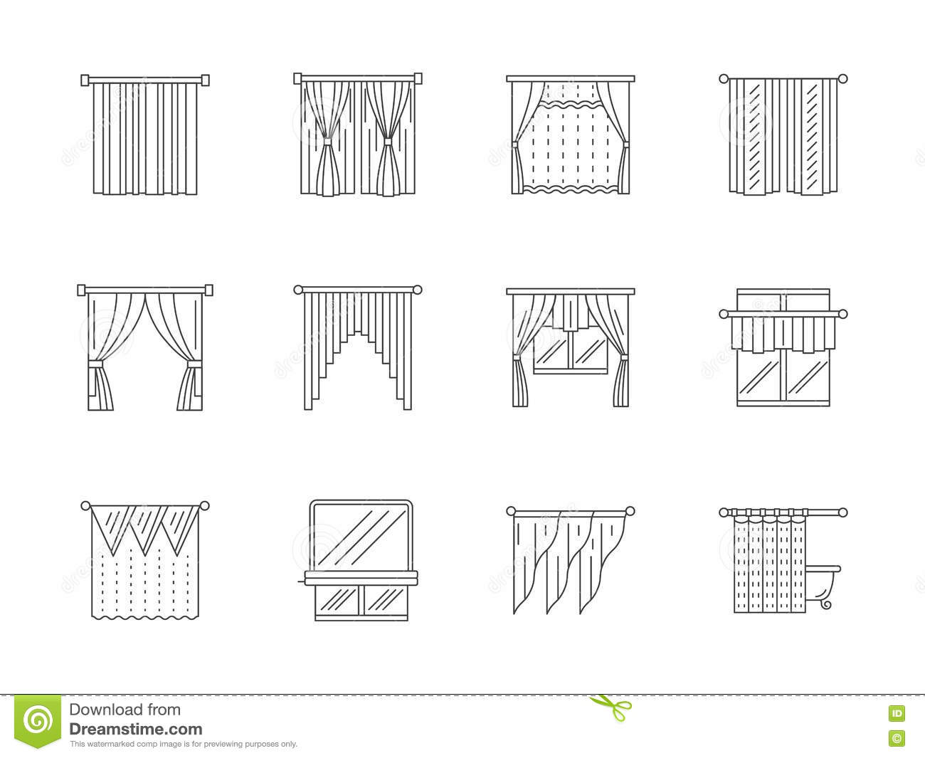 Curtain line curtain menzilperdenet for Interior design kitchen symbols