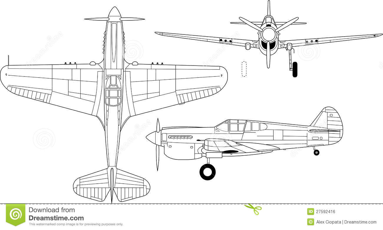 P 40 coloring pages - Airplane P 40