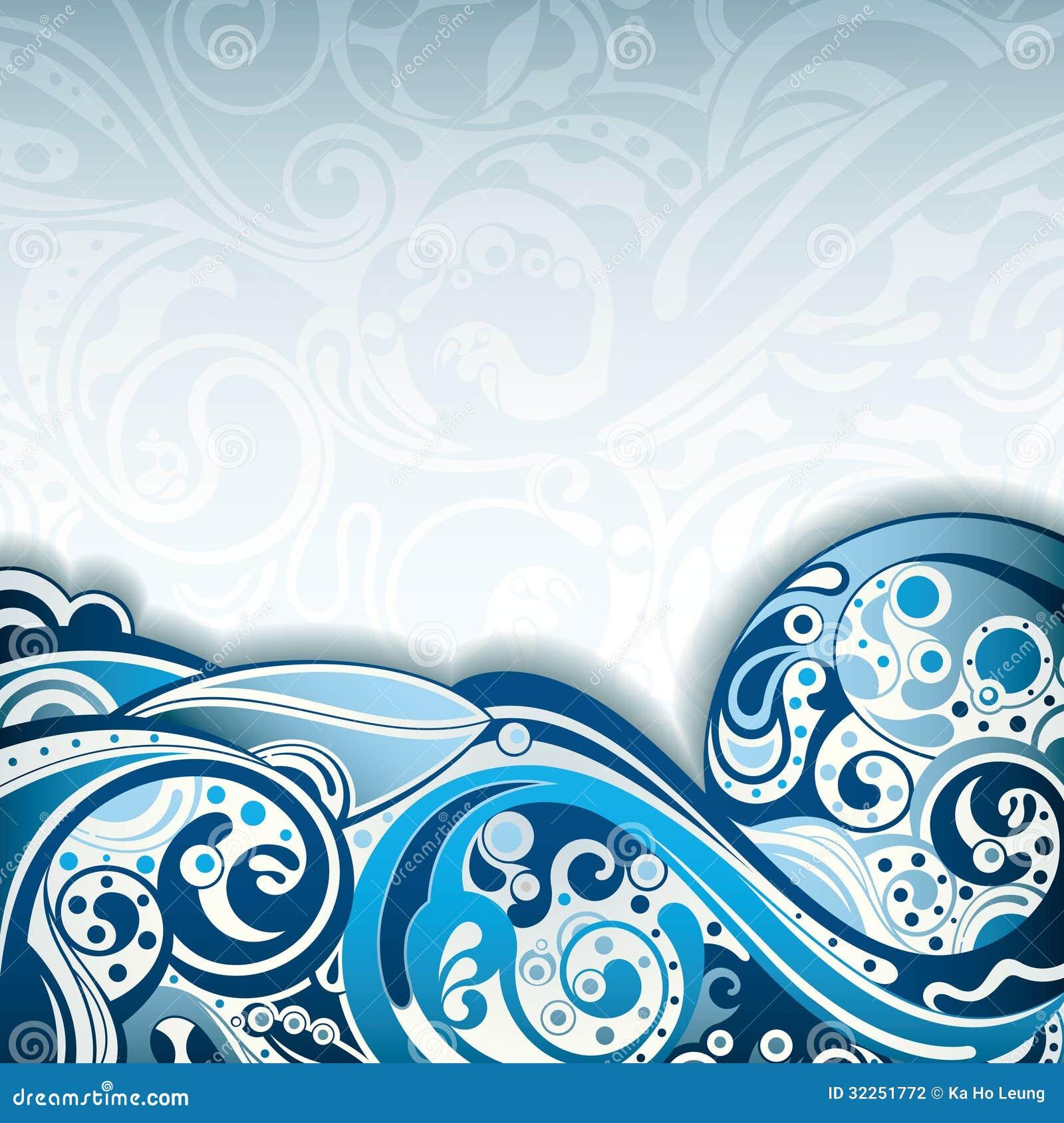 Curva blu astratta