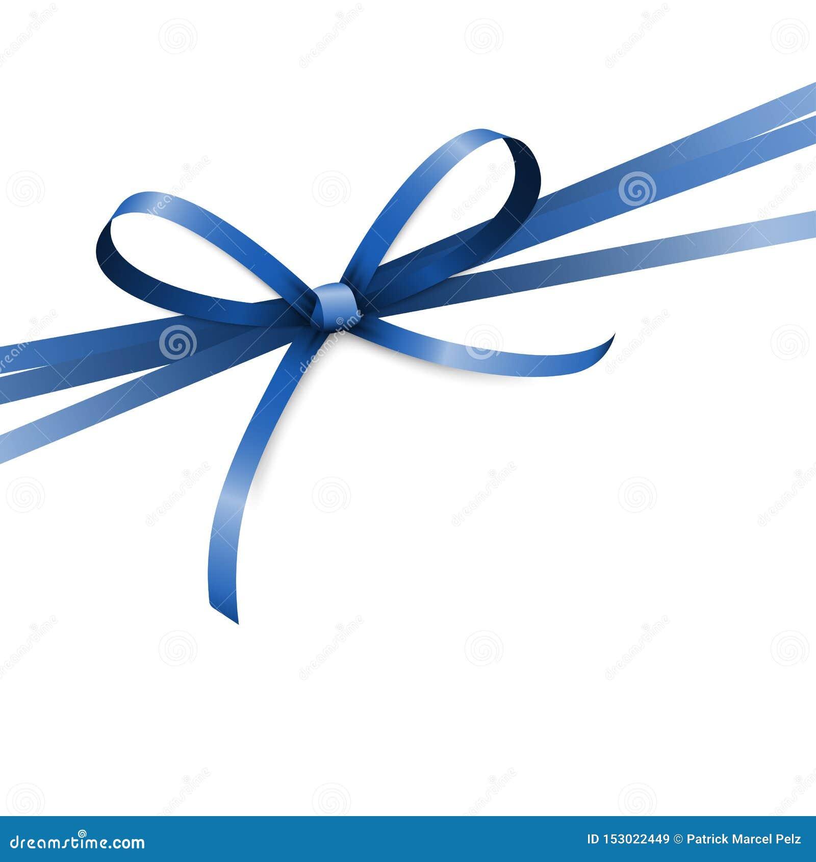 Curva colorida azul da fita