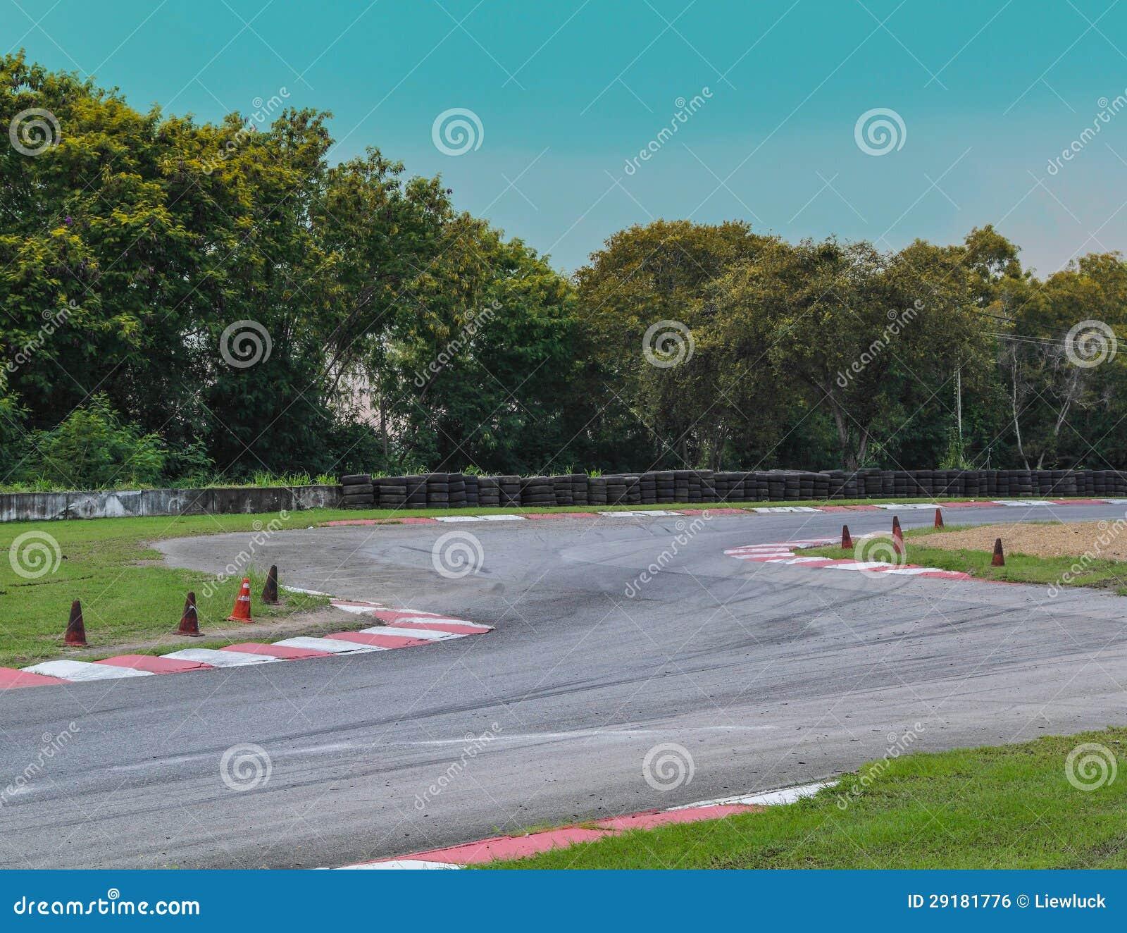 Curva del circuito de carreras