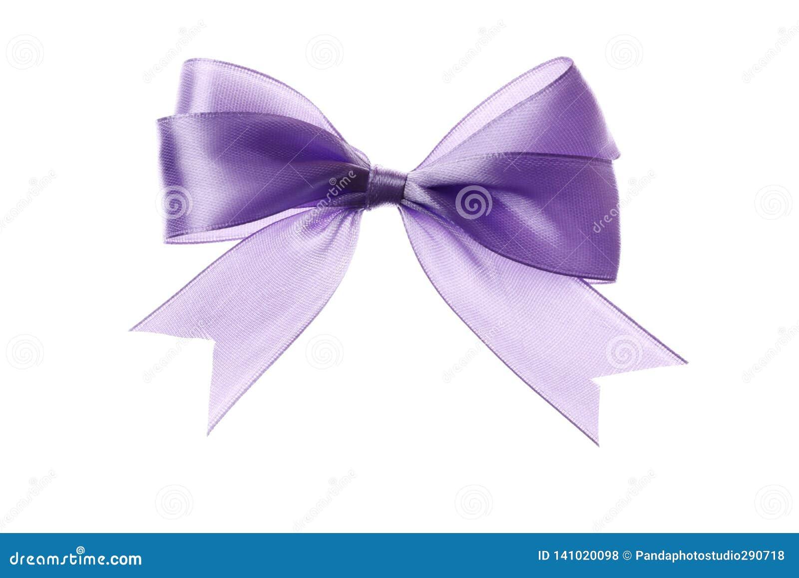 Curva lilás bonita isolada no fundo branco