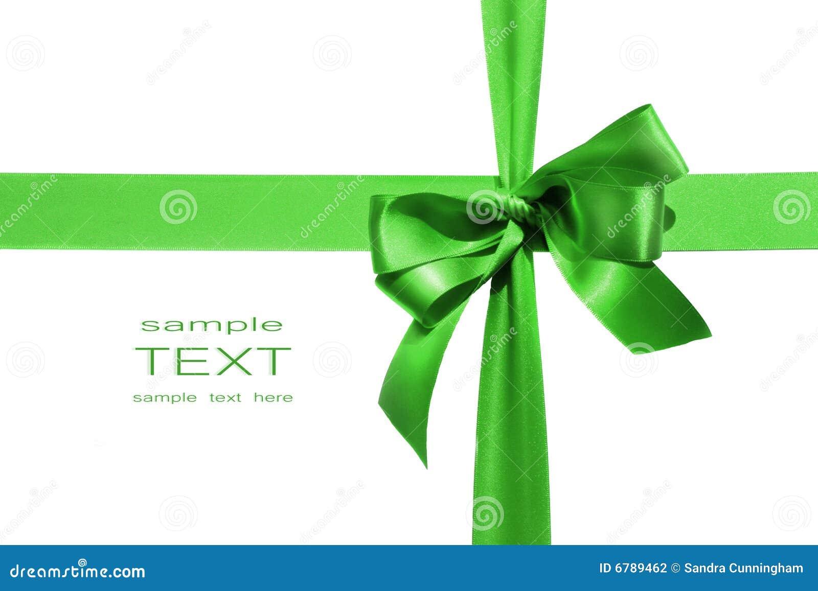 Curva verde grande do feriado no fundo branco