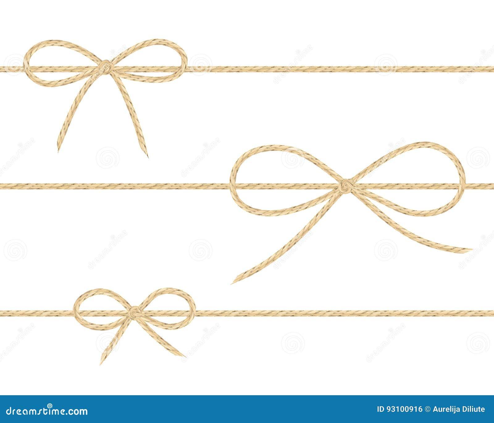 Curvas de linho da corda