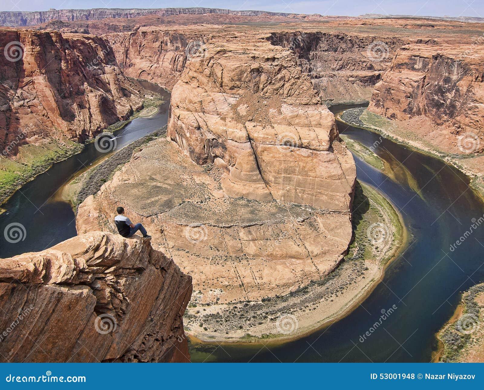 Curvatura grand canyon della scarpa del cavallo fotografia for Grand canyon north rim mappa della cabina