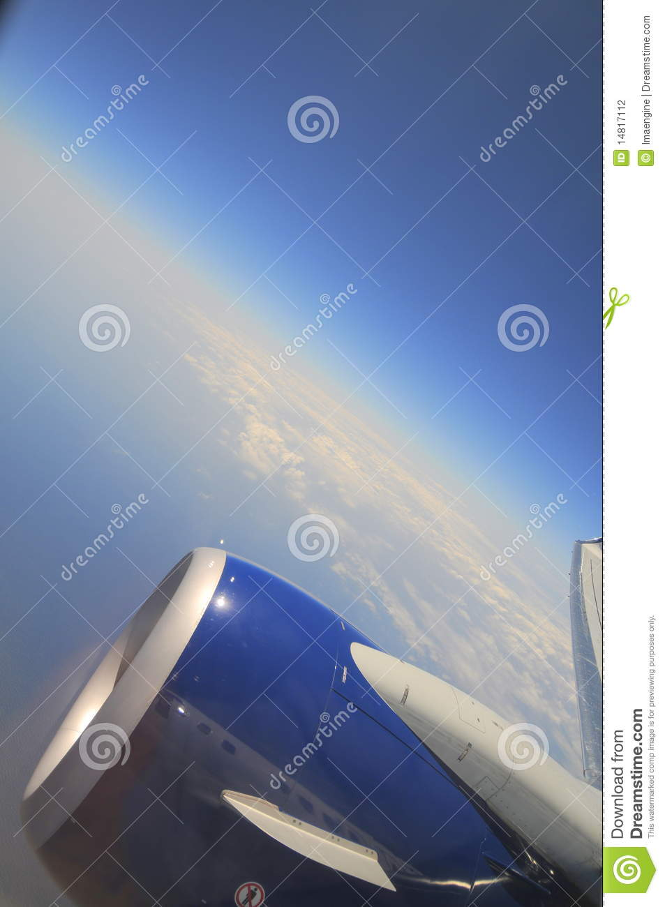Curvature Of The Earth (Airplane Window View) Stock Photo - Image of