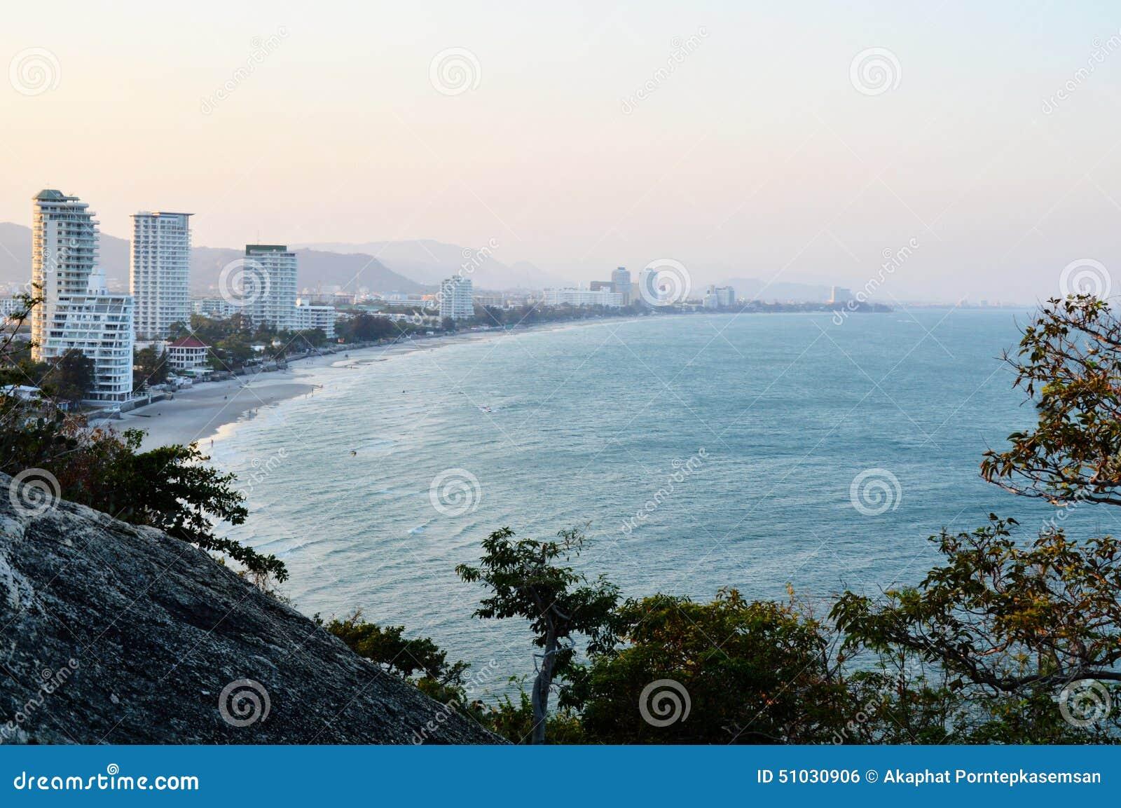 Curve beach landscape
