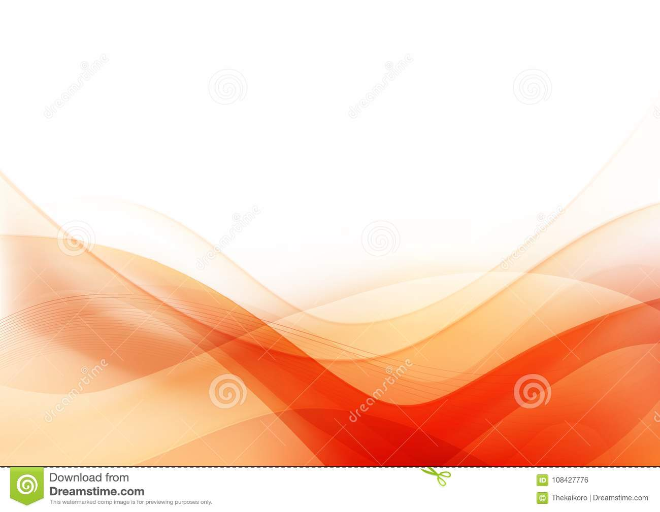Curve and blend light Orange abstract background 003