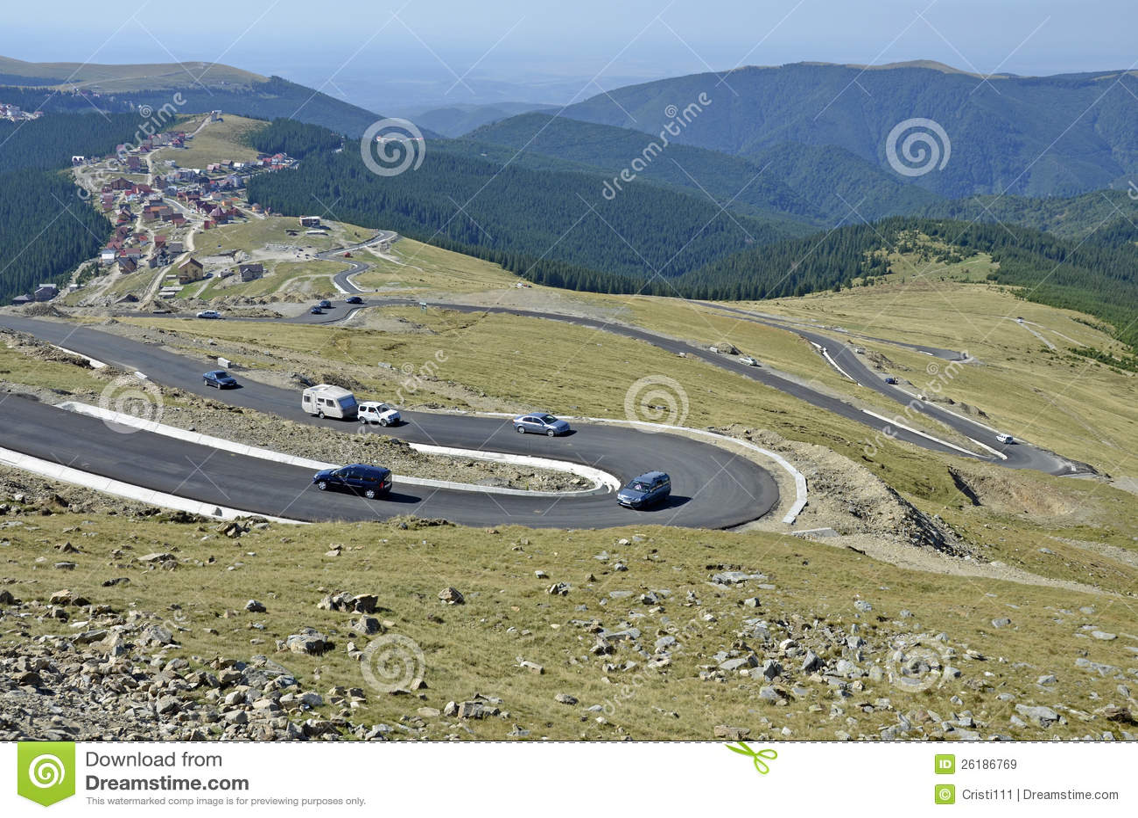 Curve della montagna a Ranca