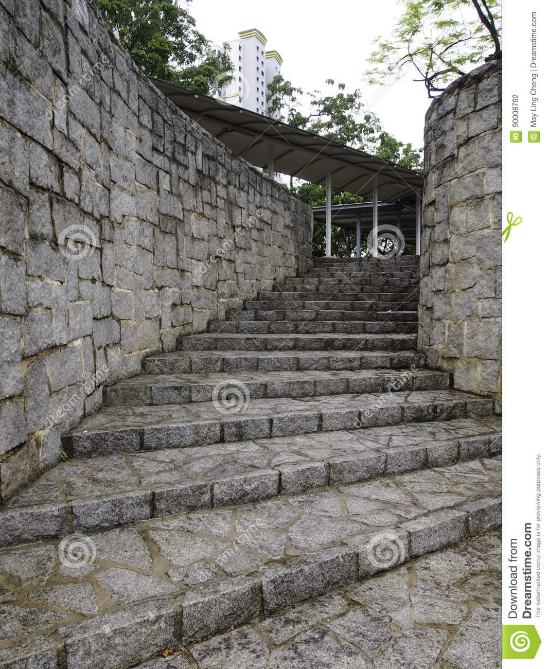 Download Curve stone stairway stock photo. Image of wall, steps - 90008792