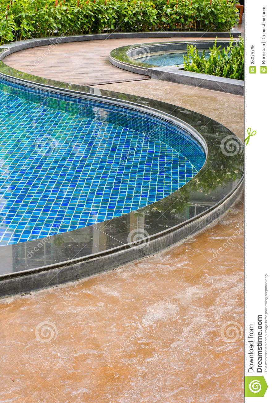 Curve Of Swimming Pool Royalty Free Stock Image Image 25075766