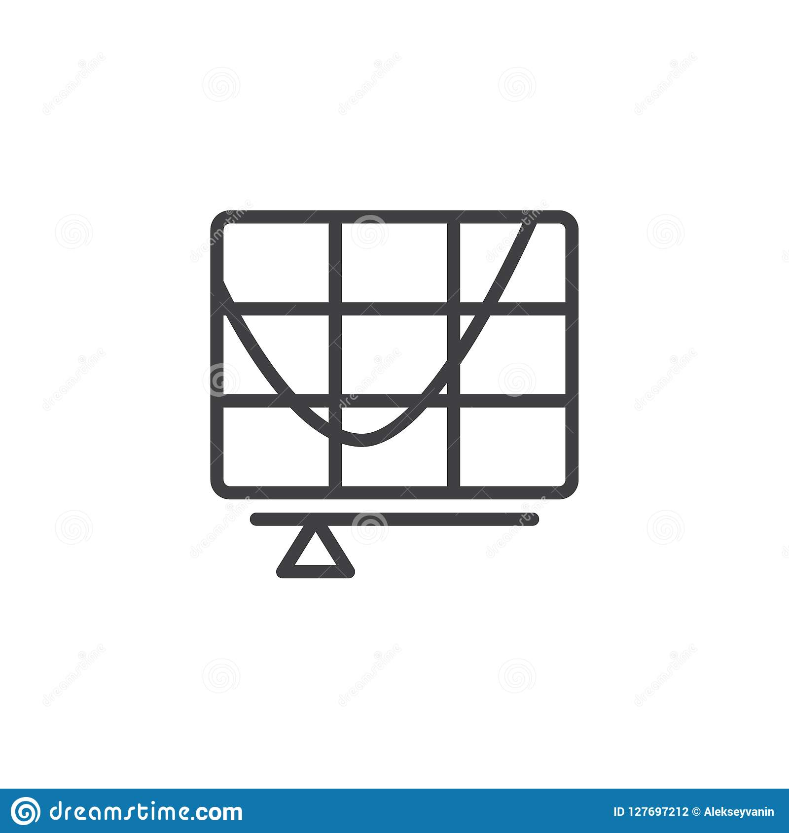 Curve tool outline icon stock vector  Illustration of stationery