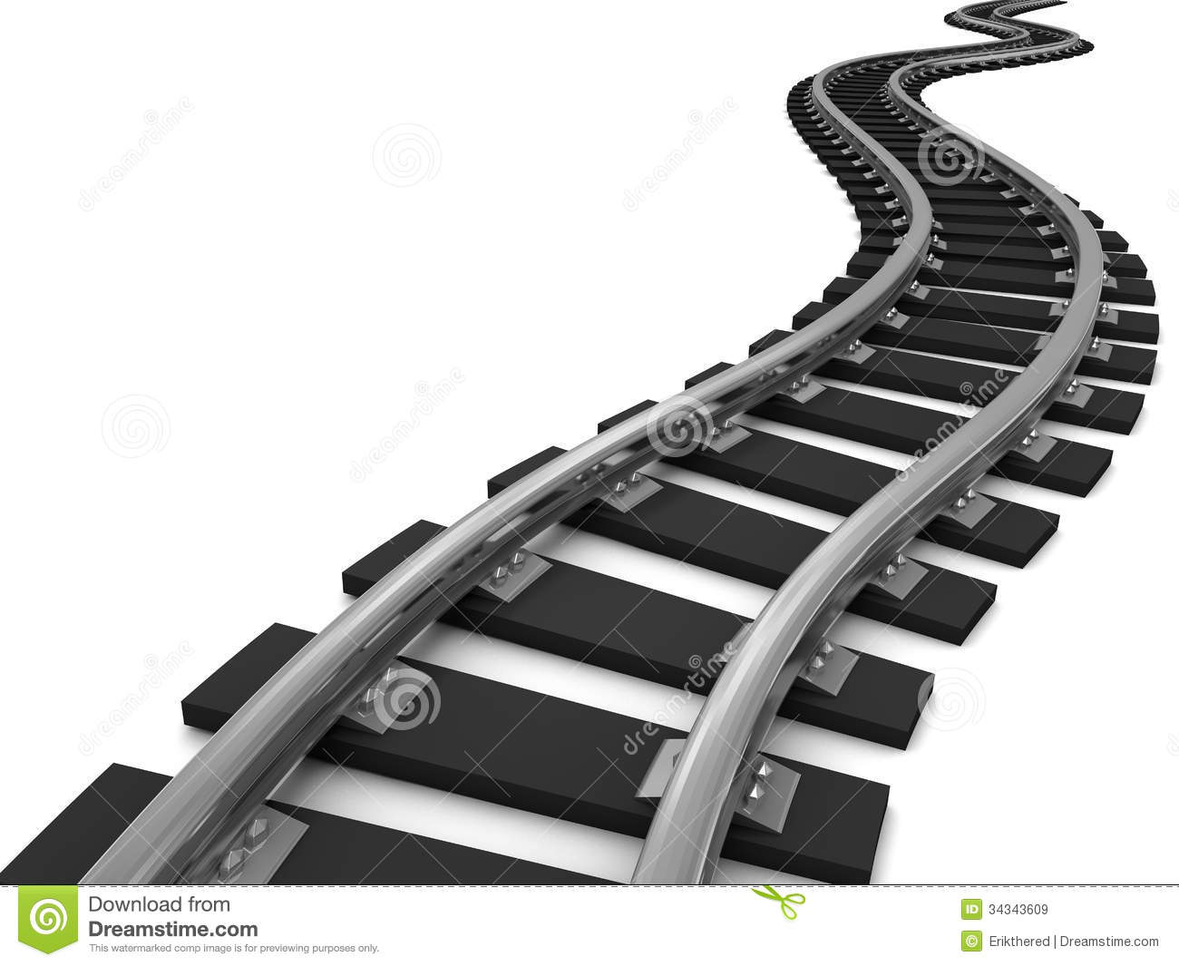 Curved train track