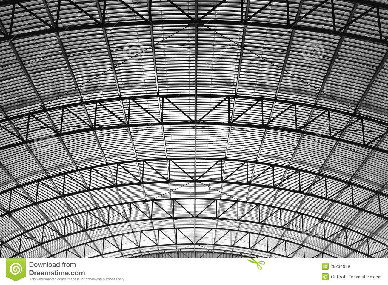 Curve Truss Stock Image Image Of Beams Abstract Force
