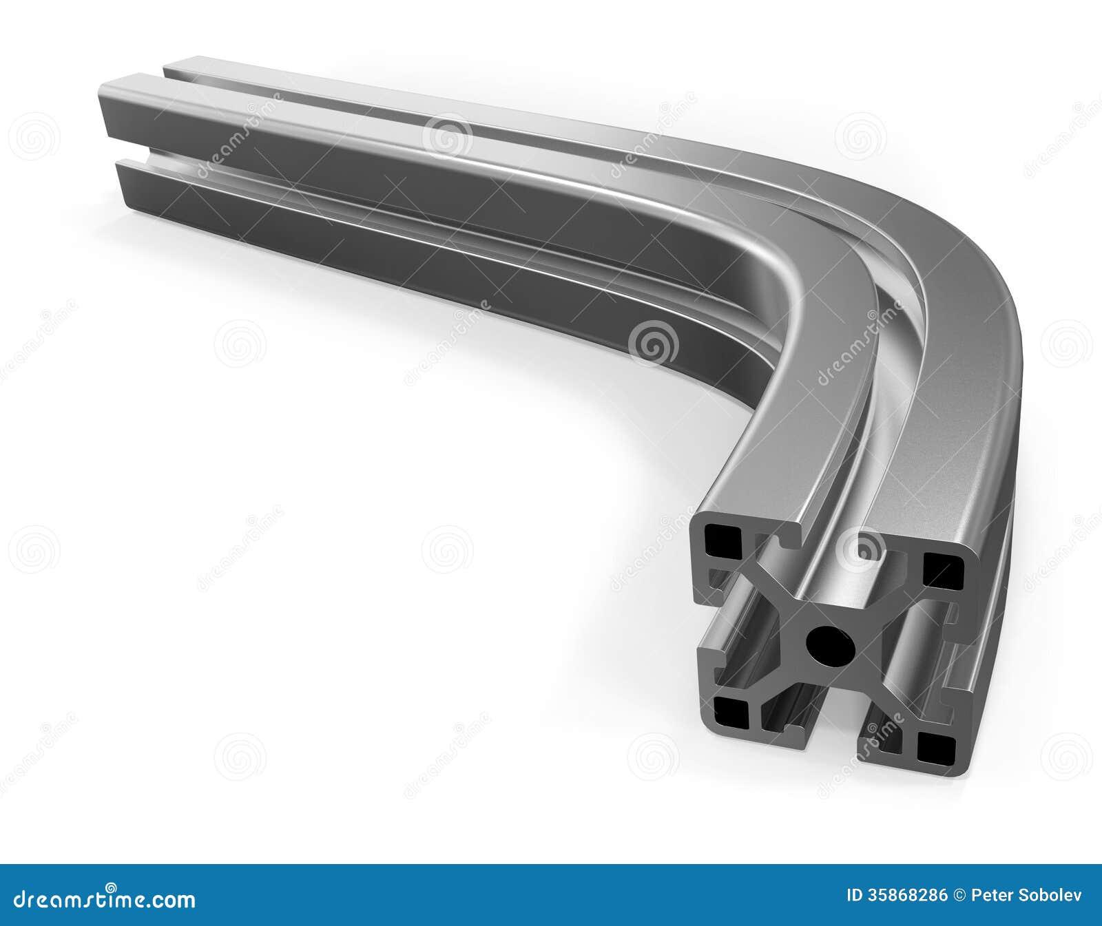 curved aluminum profile stock illustration illustration. Black Bedroom Furniture Sets. Home Design Ideas