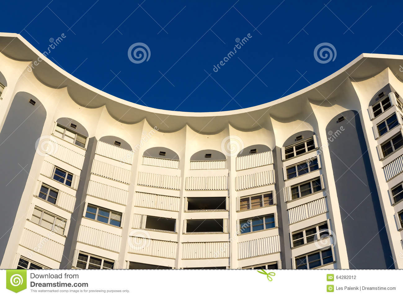 Apartment Building Front curved apartment building stock photo - image: 64282012