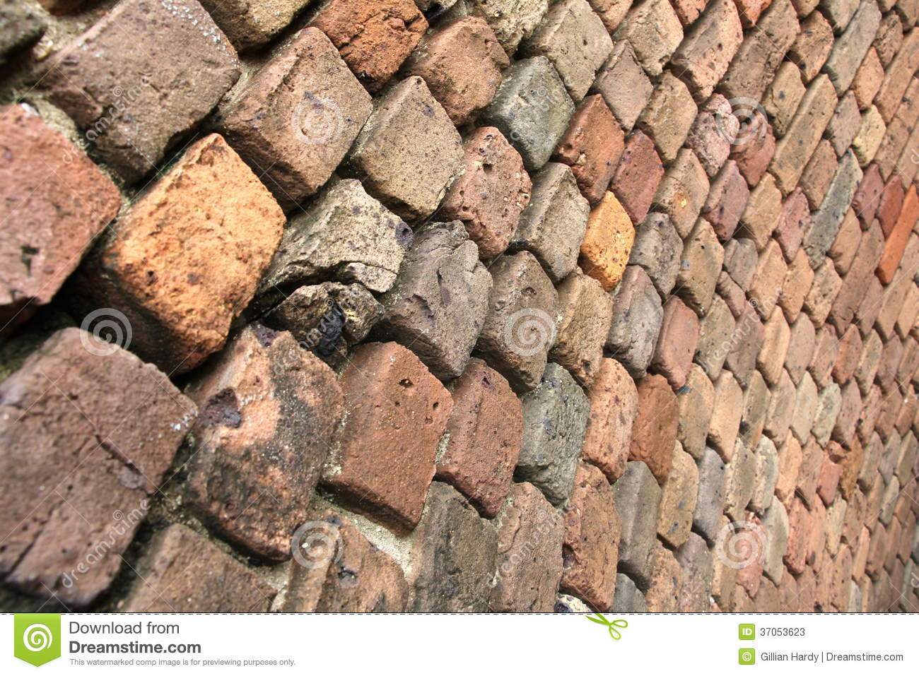 Curved Brick Wall Stock Photos Image 37053623