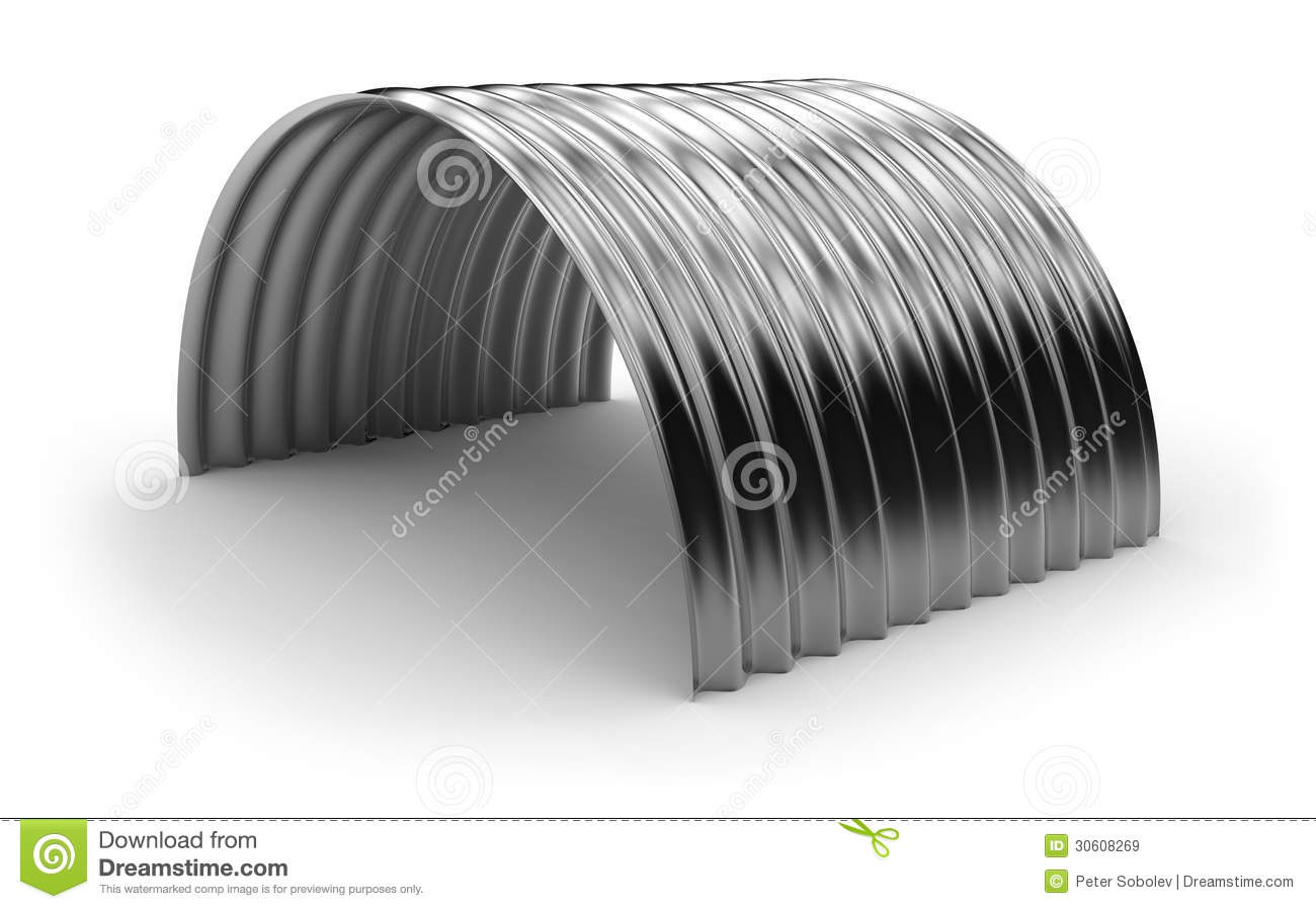 Curved Corrugated Metal Sheet Stock Illustration Image