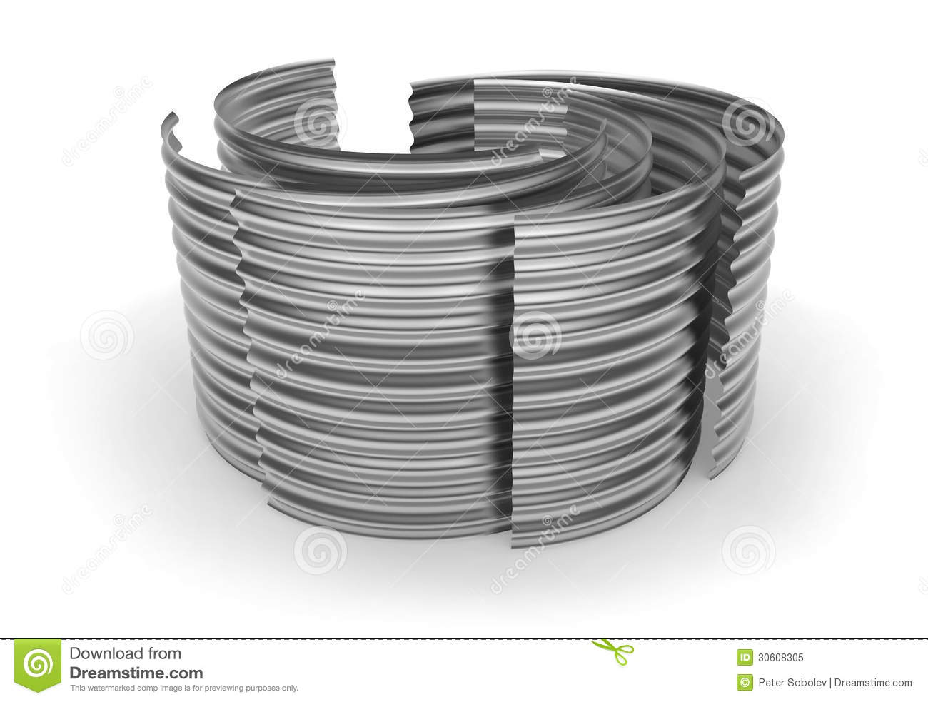 Curved Corrugated Metal Sheets Stock Illustration Image